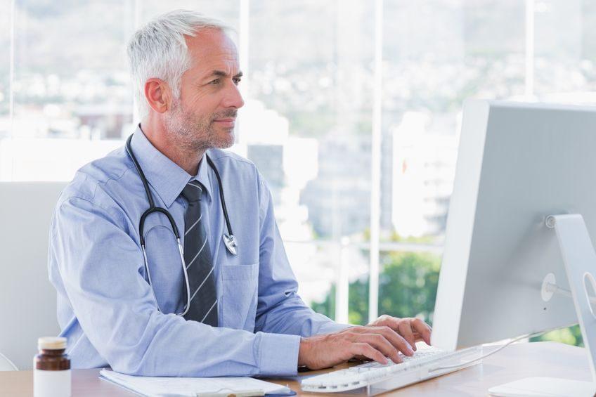 Man using a computer